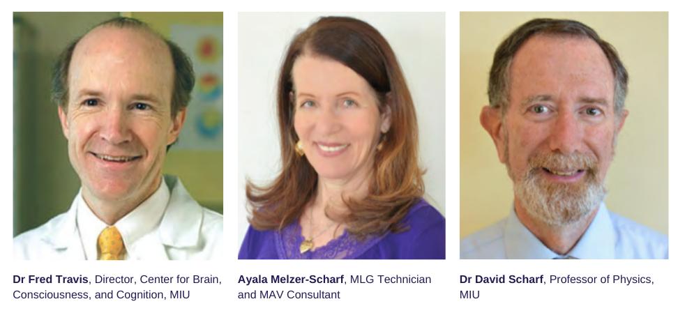 Dr Fred Travis, Ayala Melzer-Scharf, Dr David Scharf