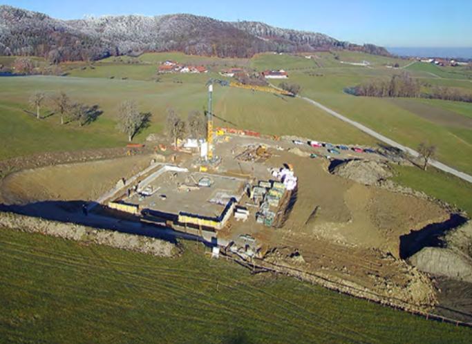 Preparedber construction site and the concrete foundation